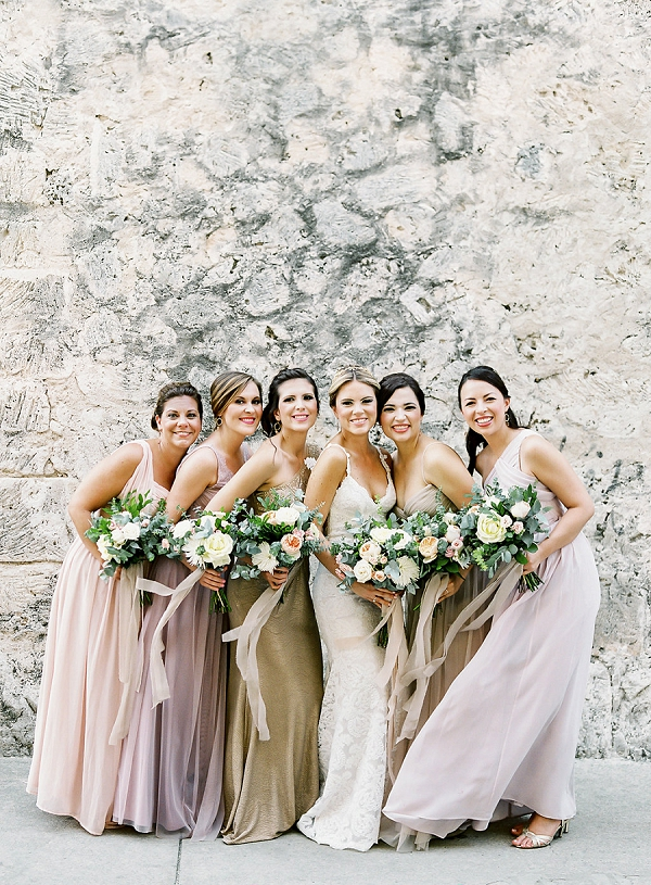 Romantic Bride and Bridesmaids Style   A Classic Garden-Inspired Wedding In Colombia by Vicki Grafton Photography