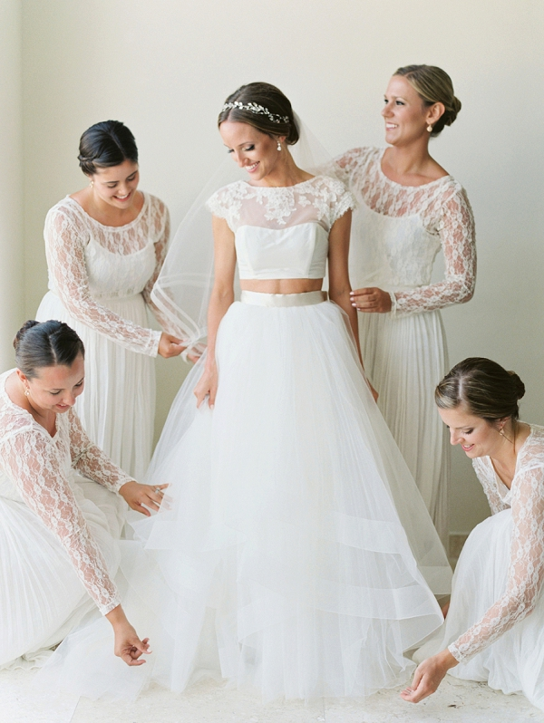 Bride and Bridesmaids Portrait | A Beach Chic Wedding in Tulum by Michelle Boyd Photography
