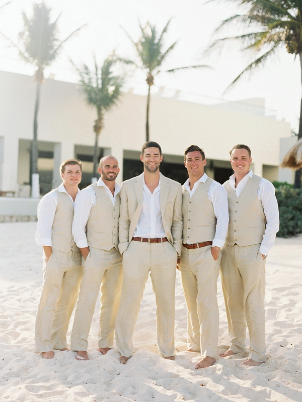 Beach Wedding Attire for the Groom and Groomsmen | A Beach Chic Wedding in Tulum by Michelle Boyd Photography