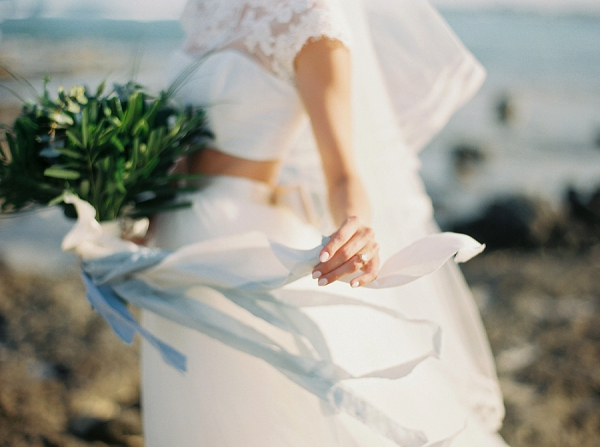 Bouquet of Greenery | A Beach Chic Wedding in Tulum by Michelle Boyd Photography