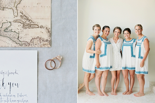 Bride and Bridesmaids in Mexico | A Beach Chic Wedding in Tulum by Michelle Boyd Photography
