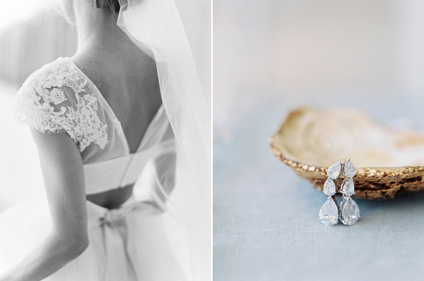 Stunning Bridal Earrings | A Beach Chic Wedding in Tulum by Michelle Boyd Photography