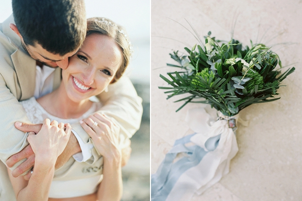 Greenery Bouquet | A Beach Chic Wedding in Tulum by Michelle Boyd Photography