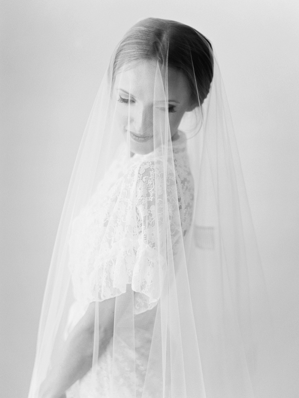 Veiled Bride in Black and White | A Beach Chic Wedding in Tulum by Michelle Boyd Photography