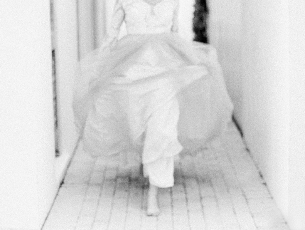 Black and White Portrait | Blush and Dusty Blue Bridal Inspiration in Rosemary Beach Florida by Courtney Woodham Photography