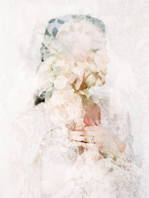 Double Exposure Bridal Portrait | Blush and Dusty Blue Bridal Inspiration in Rosemary Beach Florida by Courtney Woodham Photography