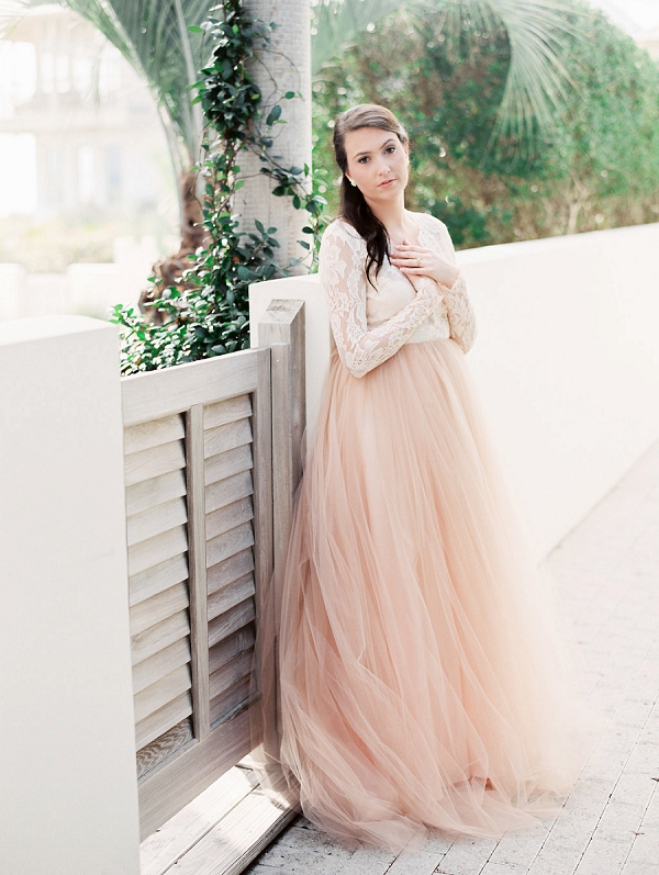 Bride | Blush and Dusty Blue Bridal Inspiration in Rosemary Beach Florida by Courtney Woodham Photography