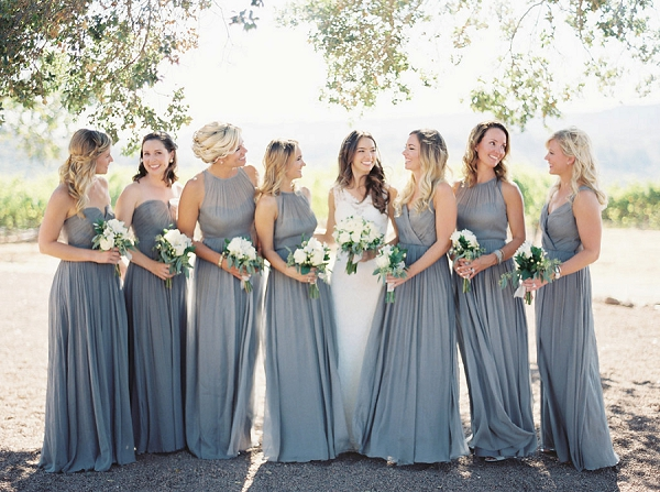 Chic Bride and Bridesmaids | Elegant Kenwood Vineyard Wedding By Yourdreamphoto