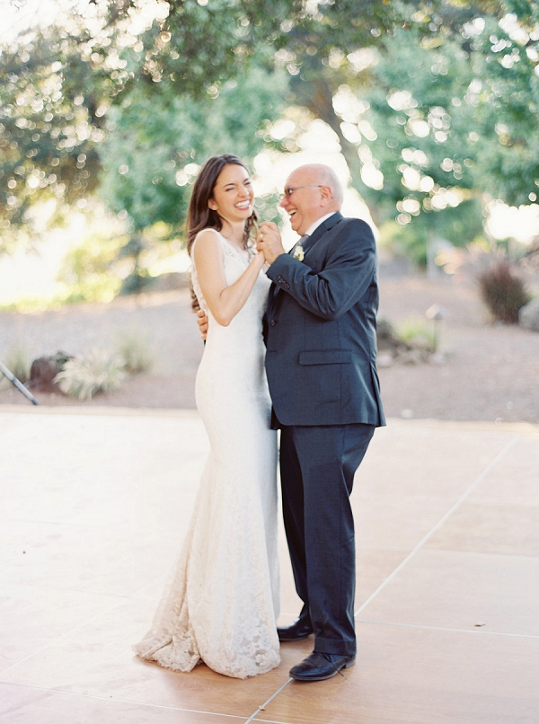 Bride and Bride's Father Dancing | Elegant Kenwood Vineyard Wedding By Yourdreamphoto