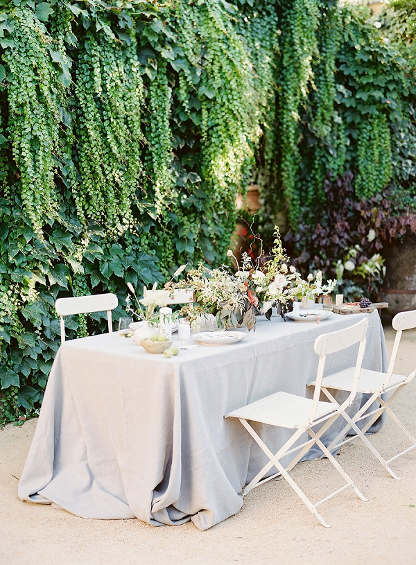 French Inspired Organic Tablescape   Romantic Outdoor Wedding Ideas by Esmeralda Franco Photography