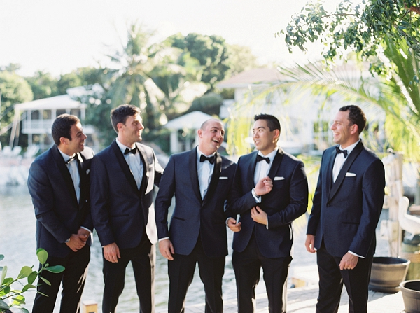 Modern Classic Groom and Groomsmen | Islamorada Island Wedding in Florida by Shannon Moffit Photography