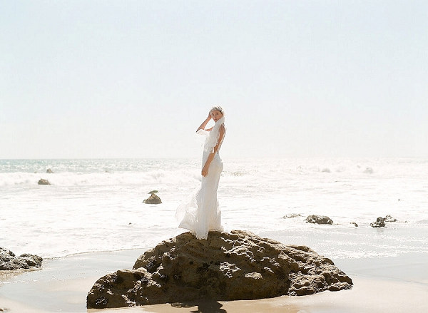 Stunning Beach Bridals | Out Of Water Malibu Inspiration by Bonphotage Photography