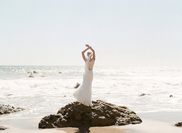 Wedding Dress with Intricate Detailing | Out Of Water Malibu Inspiration by Bonphotage Photography
