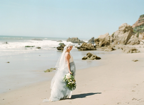 Elegant Beach Bride | Out Of Water Malibu Inspiration by Bonphotage Photography