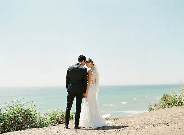 Bride and Groom Portrait | Out Of Water Malibu Inspiration by Bonphotage Photography