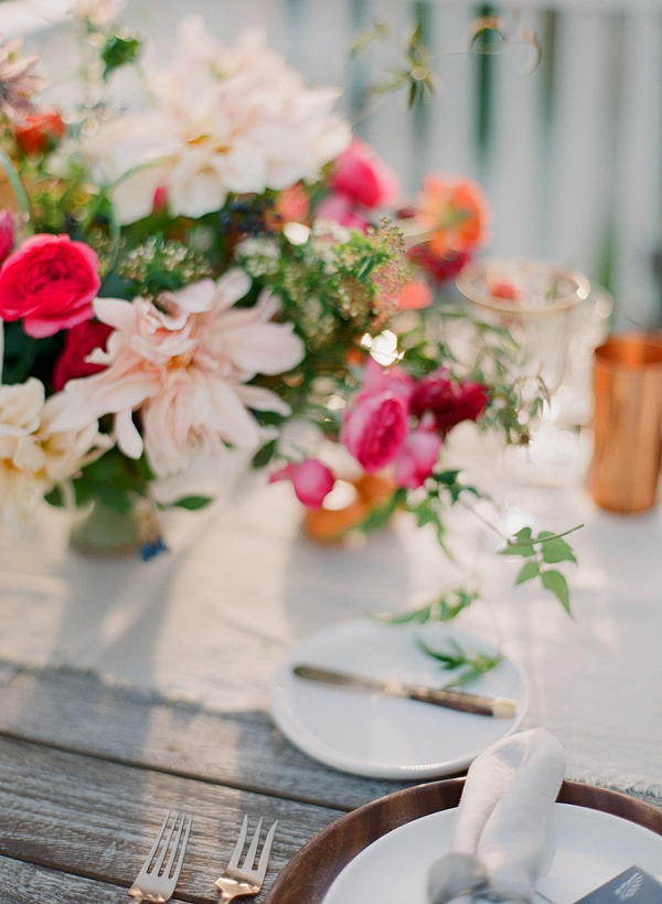 Fine Art Wedding Tablescape | Serene Seaside Bride and Groom Portraits By Meg Fish Photography