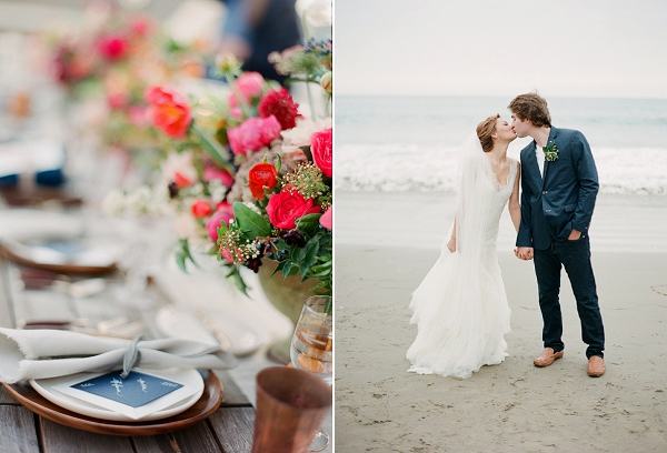 Tablescape Ideas | Serene Seaside Bride and Groom Portraits By Meg Fish Photography