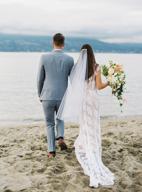 Bride and Groom   Understated Coastal Wedding Inspiration By Christie Graham Photography