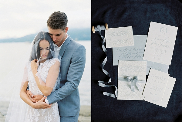 Classic Calligraphy Invitation Suite   Understated Coastal Wedding Inspiration By Christie Graham Photography