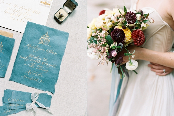 Wedding Bouquet with Rich Hues | Jewel Toned Garden Wedding Inspiration by Josh Deaton Photography