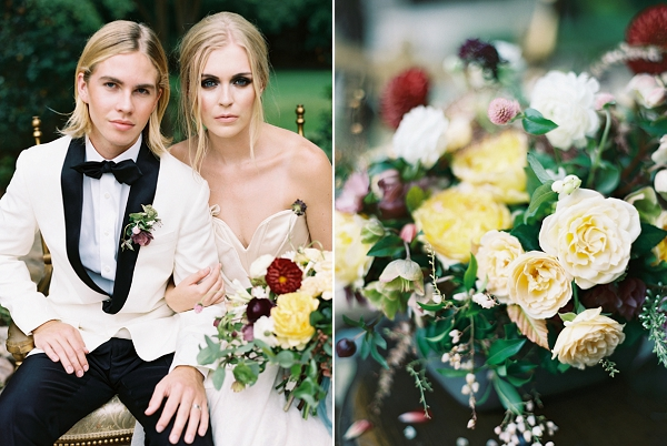 Classic Bride and Groom | Jewel Toned Garden Wedding Inspiration by Josh Deaton Photography