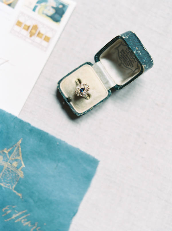 Engagement Ring | Jewel Toned Garden Wedding Inspiration by Josh Deaton Photography