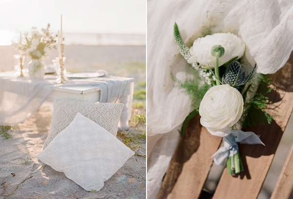 Boutonniere| Romantic Beach Wedding Inspiration by The Ganeys