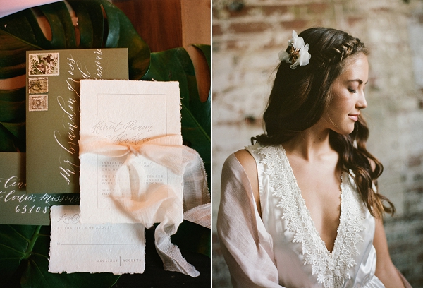 Bridal Hair and Makeup | Graceful Industrial Wedding Inspiration by Lauren Field Design and Lisa Hessel Photography