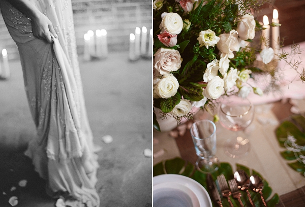 Romantic Tablescape | Graceful Industrial Wedding Inspiration by Lauren Field Design and Lisa Hessel Photography