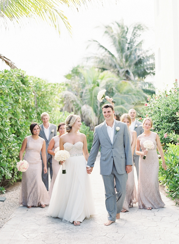 Bridal Party with Bride and Groom | Riviera Maya Mexico Beach Wedding By Kayla Barker Fine Art Photography