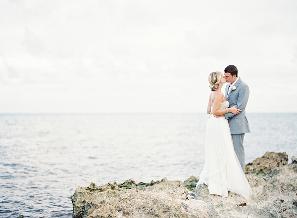 Bride and Groom Portrait on the Beach | Riviera Maya Mexico Beach Wedding By Kayla Barker Fine Art Photography