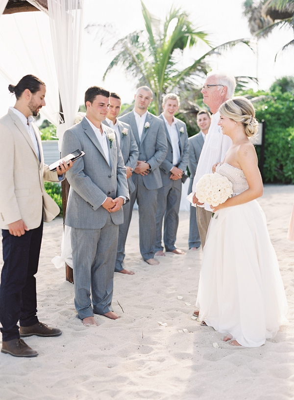 Father of the Bride | Riviera Maya Mexico Beach Wedding By Kayla Barker Fine Art Photography