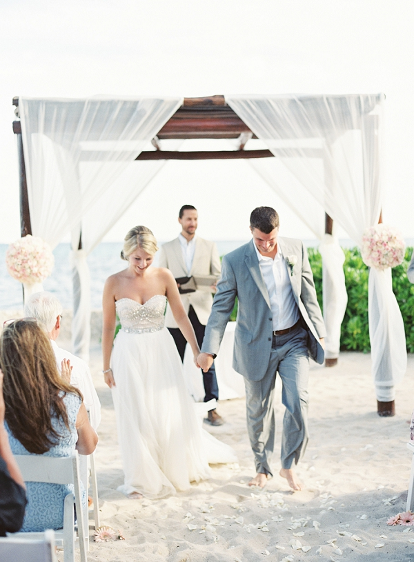 Beach Wedding Ceremony | Riviera Maya Mexico Beach Wedding By Kayla Barker Fine Art Photography