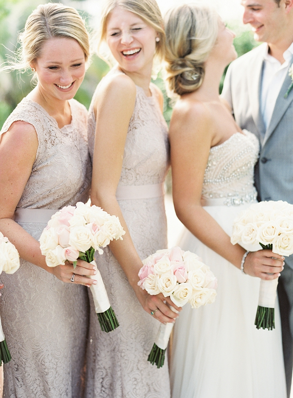 Lace Bridesmaid Dresses | Riviera Maya Mexico Beach Wedding By Kayla Barker Fine Art Photography
