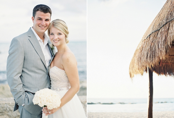 Bride and Groom | Riviera Maya Mexico Beach Wedding By Kayla Barker Fine Art Photography