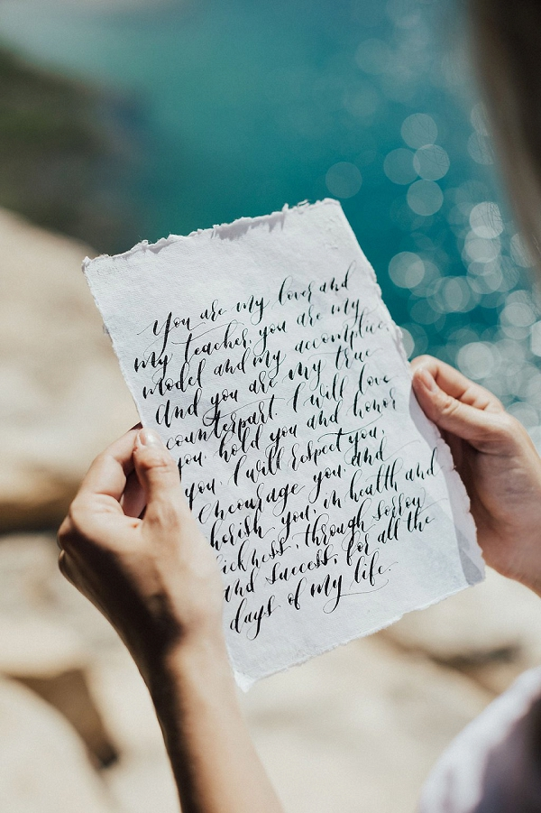 Hand Written Vows | Sultry Summertime Elopement Inspiration by Leighanne Herr Photography