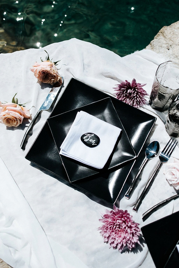 Modern Place Setting | Sultry Summertime Elopement Inspiration by Leighanne Herr Photography