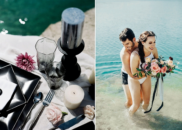 Black Moody Wedding Palette | Sultry Summertime Elopement Inspiration by Leighanne Herr Photography