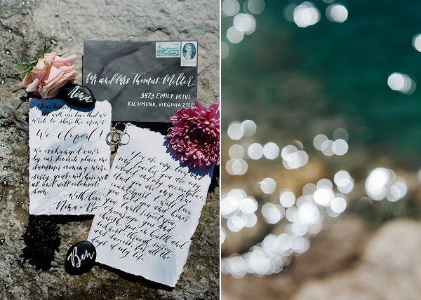 Calligraphy Wedding Invitations | Sultry Summertime Elopement Inspiration by Leighanne Herr Photography