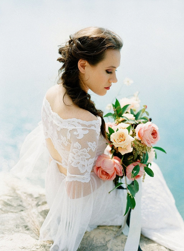 Lace Bridal Crop Top | Sultry Summertime Elopement Inspiration by Leighanne Herr Photography