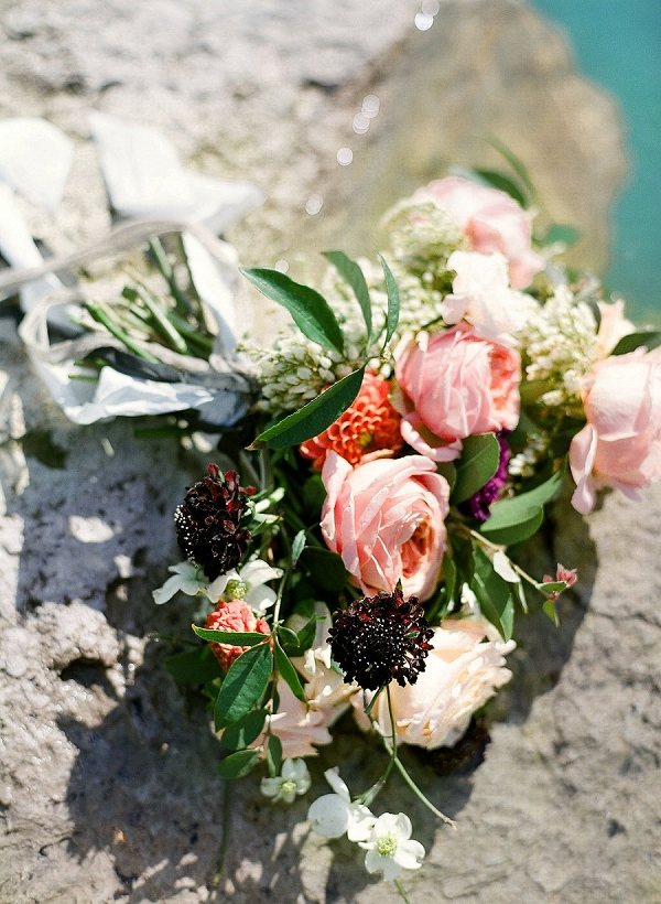 Textured Bridal Bouquet | Sultry Summertime Elopement Inspiration by Leighanne Herr Photography