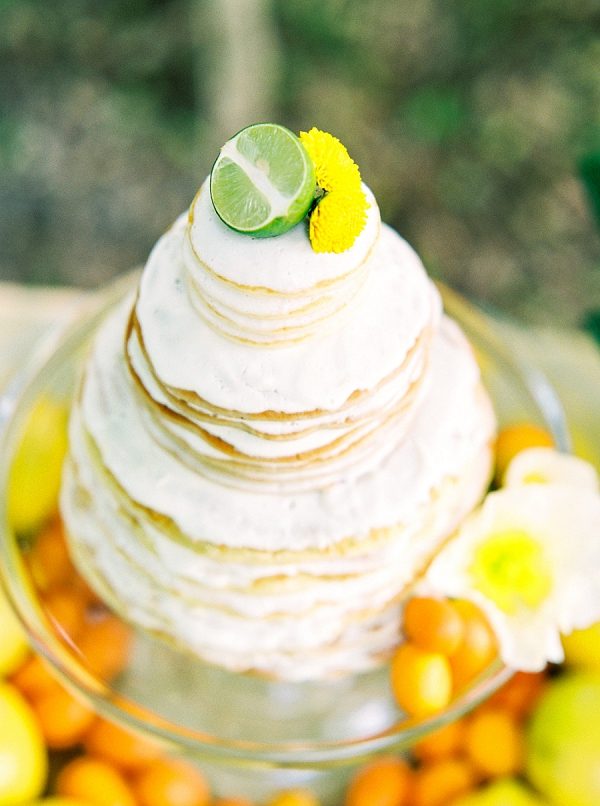 Citrus Pancake Cake | Colorful Summer Bridal Brunch Editorial by Dyan Kethley Photography