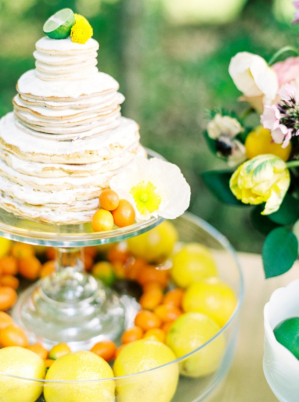 Pancake Cake | Colorful Summer Bridal Brunch Editorial by Dyan Kethley Photography