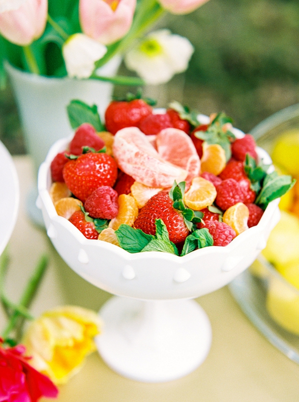 Fruit for a Brunch Party | Colorful Summer Bridal Brunch Editorial by Dyan Kethley Photography