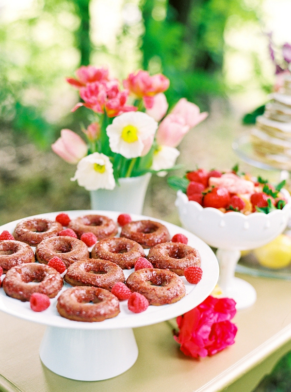 Bridal Brunch Party Donuts | Colorful Summer Bridal Brunch Editorial by Dyan Kethley Photography