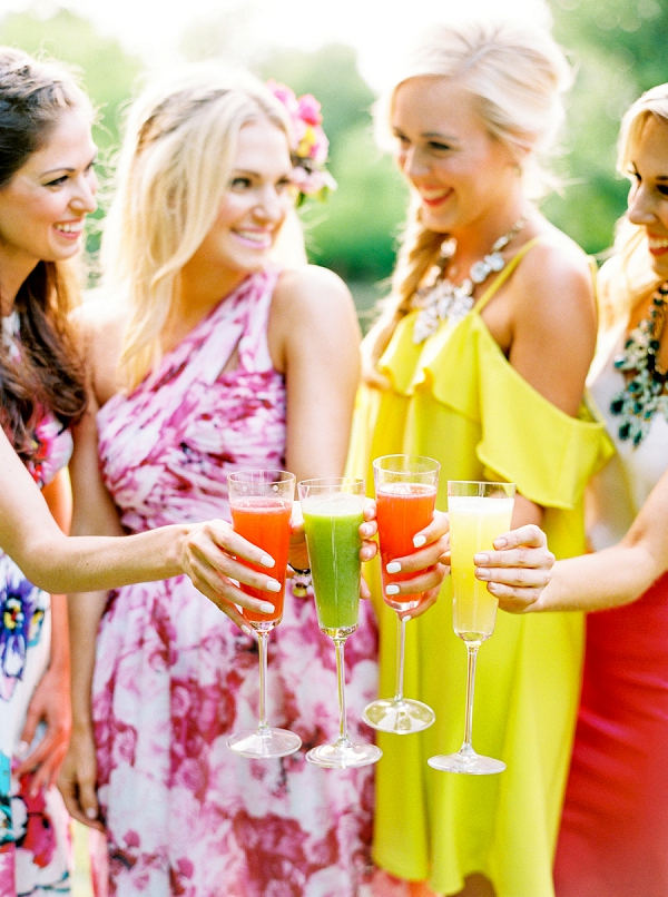 Bridesmaids Party Toast | Colorful Summer Bridal Brunch Editorial by Dyan Kethley Photography