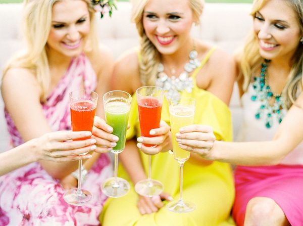 Cocktails for a Bridal Brunch | Colorful Summer Bridal Brunch Editorial by Dyan Kethley Photography