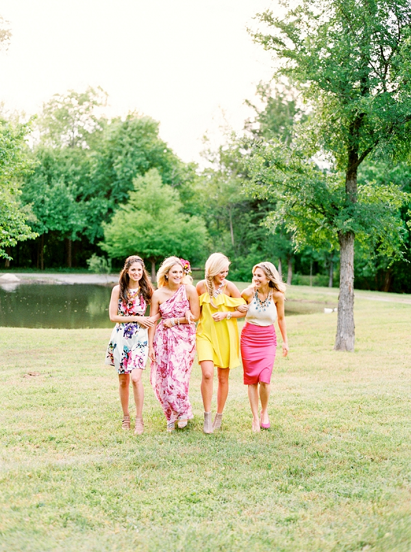 Bridesmaids | Colorful Summer Bridal Brunch Editorial by Dyan Kethley Photography