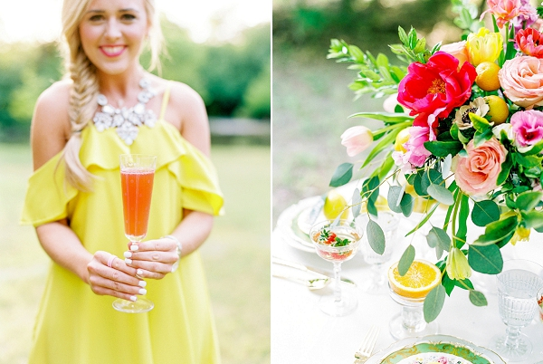 Bright Colors | Colorful Summer Bridal Brunch Editorial by Dyan Kethley Photography