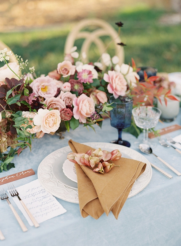 Elegant Tablescape with Gorgeous Feminine Palette | Villa Di Baci Editorial from Lynette Boyle Photography